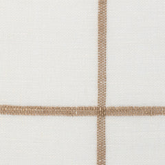 Spain18 Natural Brown Off White 1 - 100% Linen 3.5 Oz (Light/Medium Weight | 114 Inch Wide | Medium Soft) Wide Width Yarn Dye