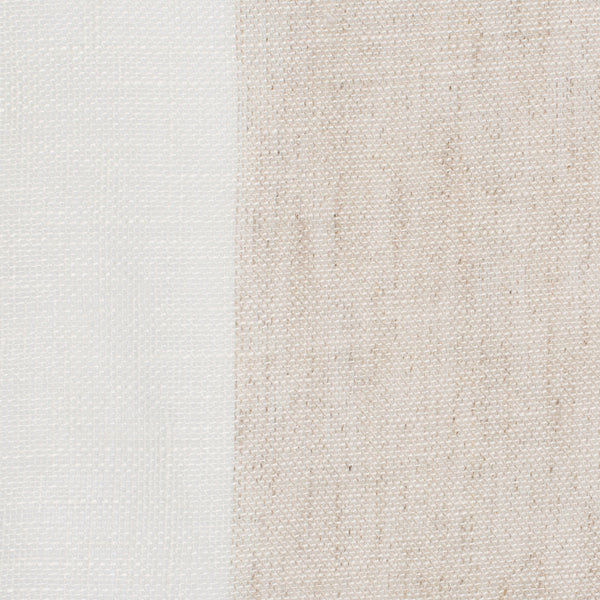 SAMPLE - Spain2 Natural Brown Off White 1 - 100% Linen 3.4 Oz (Light/Medium Weight | 114 Inch Wide | Medium Soft) Wide Width Yarn Dye