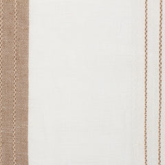 SAMPLE - Spain20 Natural Brown Off White 1 Linen Polyester 5.6 Oz (Light/Medium Weight | 114 Inch Wide | Medium Soft) Wide Width Yarn Dye