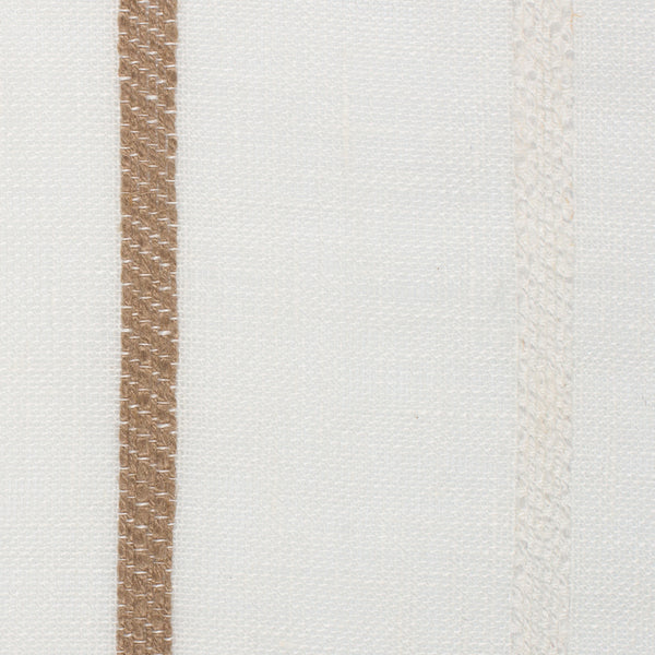 SAMPLE - Spain22 Natural Brown Off White 1 - 100% Linen 3.8 Oz (Light/Medium Weight | 114 Inch Wide | Medium Soft) Wide Width Yarn Dye