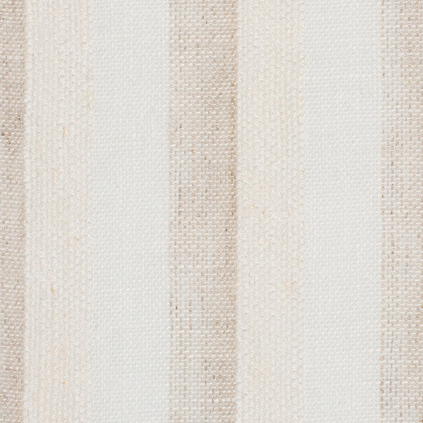 SAMPLE - Spain4 Natural Brown Off White 1 - 100% Linen 5 Oz (Light/Medium Weight | 114 Inch Wide | Medium Soft) Wide Width Yarn Dye