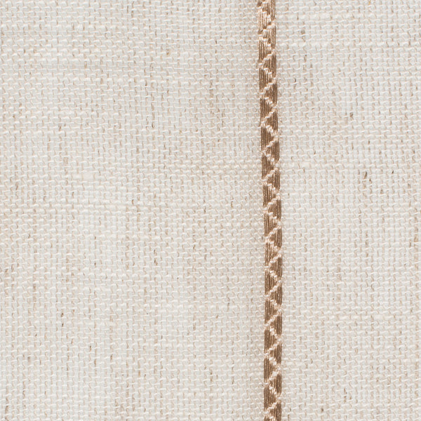SAMPLE - Spain7 Natural Brown 1 Linen Polyester 3.4 Oz (Light/Medium Weight | 114 Inch Wide | Medium Soft) Wide Width Yarn Dye