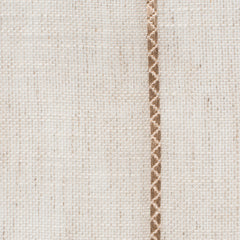 Spain7 Natural Brown 1 Linen Polyester 3.4 Oz (Light/Medium Weight | 114 Inch Wide | Medium Soft) Wide Width Yarn Dye