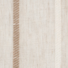 SAMPLE - Spain8 Natural Brown White 1 - 100% Linen 3.8 Oz (Light/Medium Weight | 114 Inch Wide | Medium Soft) Wide Width Yarn Dye