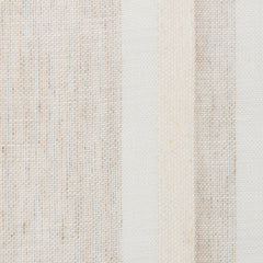 SAMPLE - Spain9 Natural Brown Off White 1 - 100% Linen 4.3 Oz (Light/Medium Weight | 114 Inch Wide | Medium Soft) Wide Width Yarn Dye