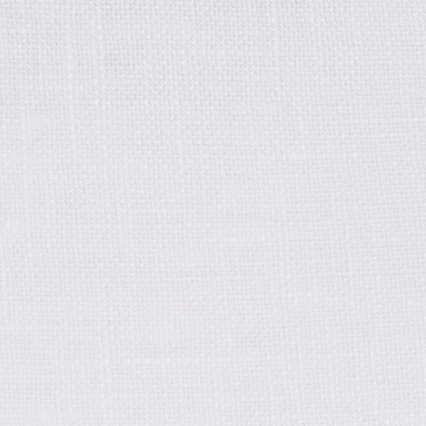 Swedish19 White 1 - 100% Linen 5.5 Oz (Light/Medium Weight | 110 Inch Wide | Medium Soft) Wide Width Yarn Dye