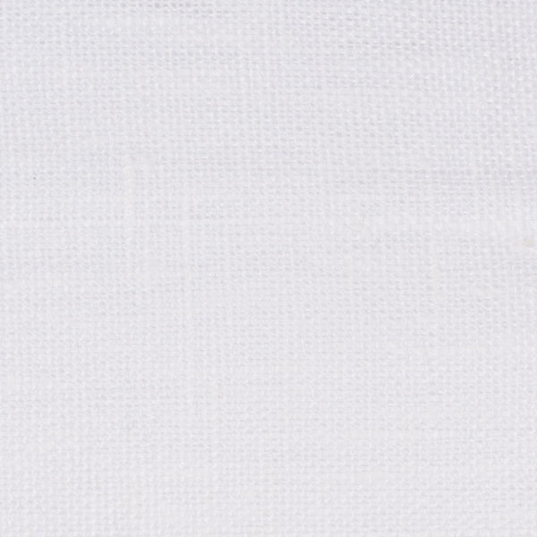 Swedish20 White 1 - 100% Linen 6.5 Oz (Medium Weight | 111 Inch Wide | Medium Soft) Wide Width Yarn Dye