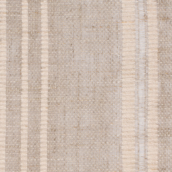 SAMPLE - Swedish3 Natural Brown Off White 1 Linen Cotton 4 Oz (Light/Medium Weight | 114 Inch Wide | Medium Soft) Wide Width Yarn Dye
