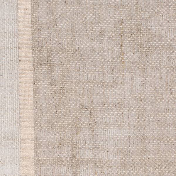 SAMPLE - Swedish4 Natural Brown Off White 1 Linen Cotton 3.7 Oz (Light/Medium Weight | 114 Inch Wide | Medium Soft) Wide Width Yarn Dye