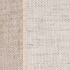 SAMPLE - Swedish5 Natural Brown Off White 1 - 100% Linen 3.4 Oz (Light/Medium Weight | 114 Inch Wide | Medium Soft) Wide Width Yarn Dye