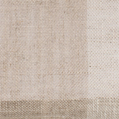 SAMPLE - Swedish6 Natural Brown Off White 1 - 100% Linen 3.3 Oz (Light/Medium Weight | 114 Inch Wide | Medium Soft) Wide Width Yarn Dye