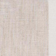 SAMPLE - Swedish7 Natural Brown Off White 1 Linen Cotton 3.3 Oz (Light/Medium Weight | 114 Inch Wide | Medium Soft) Wide Width Yarn Dye