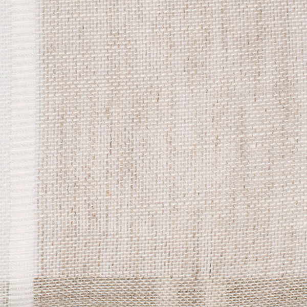 Swedish9 Natural Brown White 1 - 100% Linen 3.7 Oz (Light/Medium Weight | 114 Inch Wide | Medium Soft) Wide Width Yarn Dye