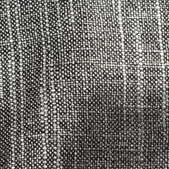 SAMPLE - Swiss Silver Black 1 Linen Cotton 8 Oz (Medium Weight | 53 Inch Wide | Extra Soft)