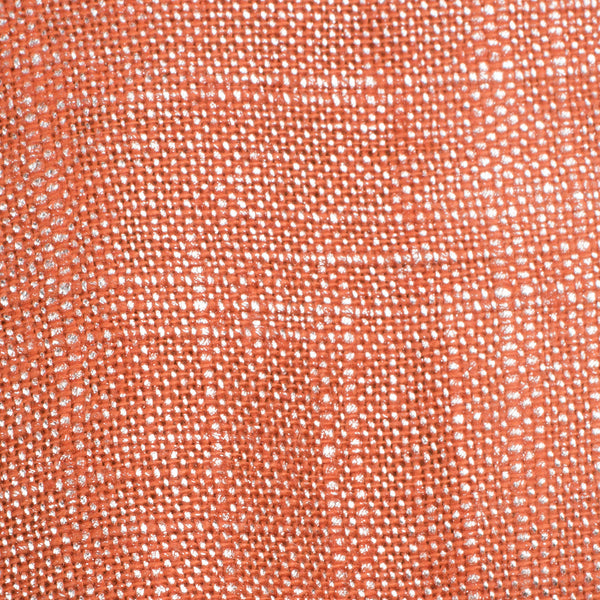 SAMPLE - Swiss Silver Orange 1 Linen Cotton 8 Oz (Medium Weight | 53 Inch Wide | Extra Soft)