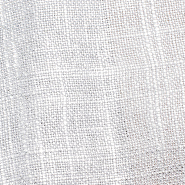 SAMPLE - Swiss Silver And White 1 Linen Cotton 8 Oz (Medium Weight | 53 Inch Wide | Extra Soft)