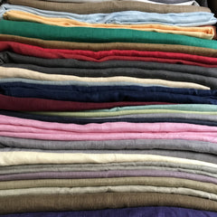 Assorted Linen Fabrics. 100% Linen. 56 Inch Wide | Extra Soft) Solid| By Linen Fabric Store Online