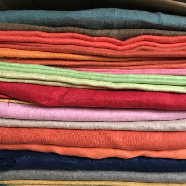 Assorted Linen Fabrics. C- 100% Linen. 56 Inch Wide | Extra Soft) Solid| By Linen Fabric Store Online