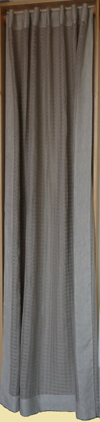 CHARCOAL GREY SHEER CURTAIN WITH SOLD EDGE