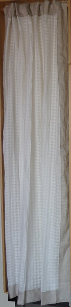 OFF WHITE SHEER CURTAIN WITH SOLD EDGE