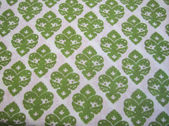 Green Dove Print-On Belgian White 1-100% LINEN 7 OZ ,56