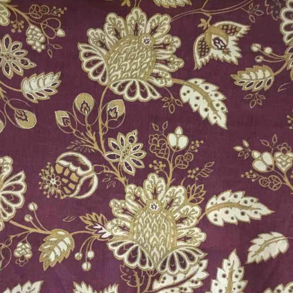 China Plum Print-On Belgian Purple 1-100% LINEN 7.5 OZ ,56