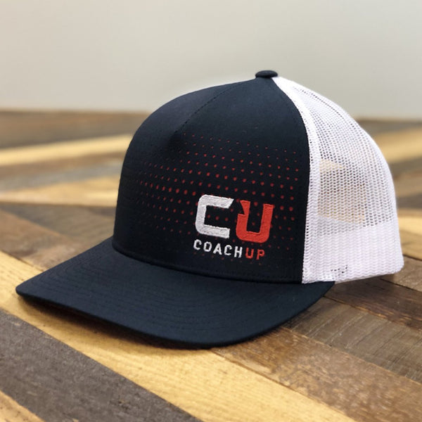 CoachUp Laser Cut 5-Panel Trucker Cap - Navy/White