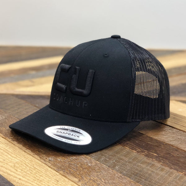 CoachUp Trucker Hat - Black/Black