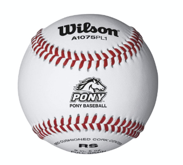 WILSON A1075 PONY LEAGUE RAISED SEAM BASEBALLS