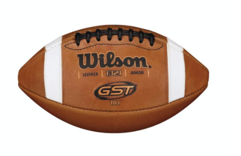 Wilson TDJ GST Leather Football - Junior (Ages 10-12)