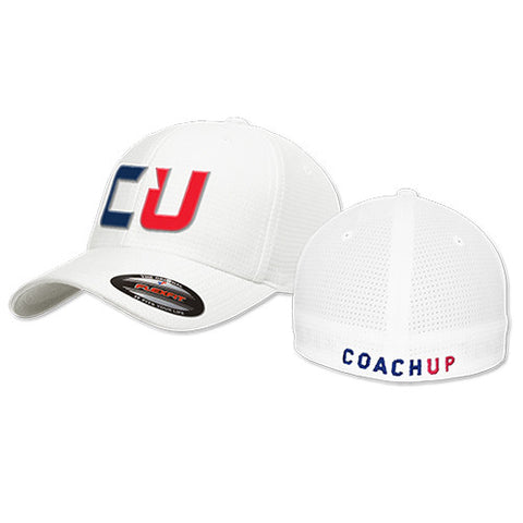 CoachUp Flex-Fit Hat - White