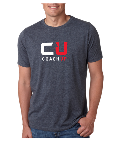 Men's CoachUp Next-Level Tri-Blend T-Shirt - Blue Grey