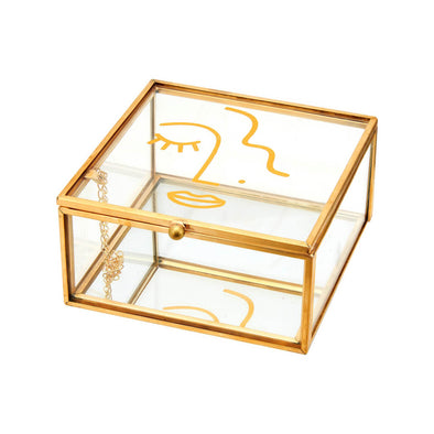 Abstract Face Glass Box