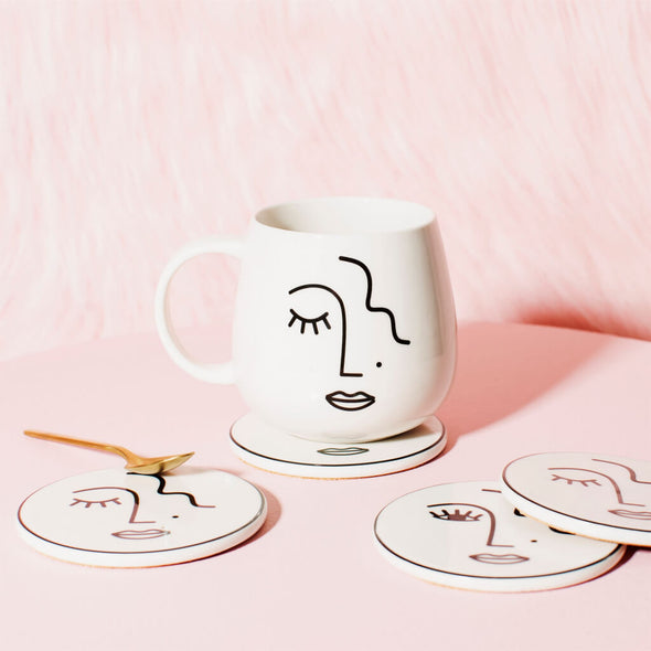 Abstract Mug Face