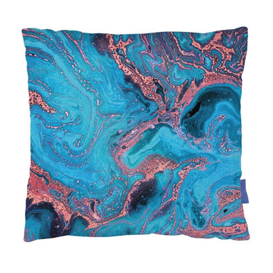 Azure Marble Effect Cushion