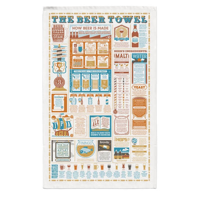 Beer Facts Organic Cotton Tea Towel