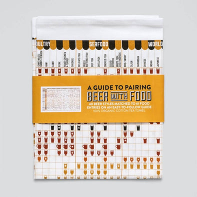 Beer Pairing with Food Tea Towel