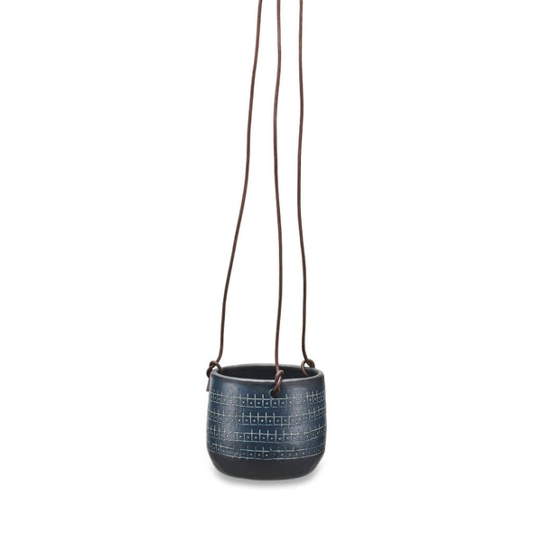 Black Aluminium Hanging Planter