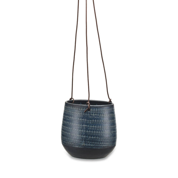 Black Hanging Aluminium Planter