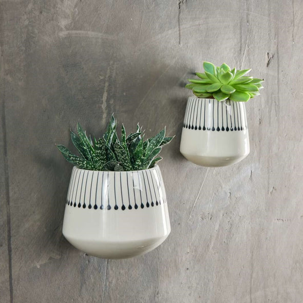 Black Matchsticks Ceramic Wall Planter