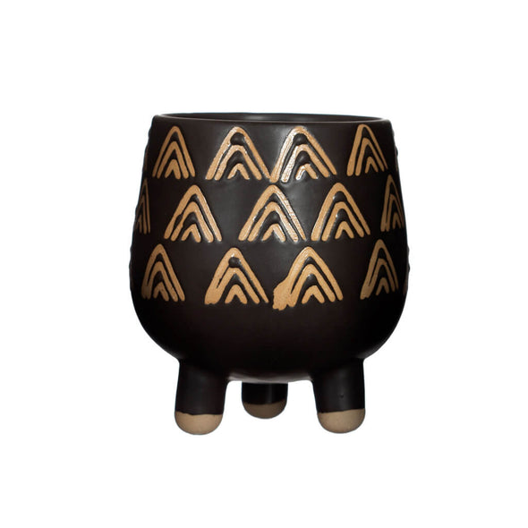Black and Gold Planter on Legs