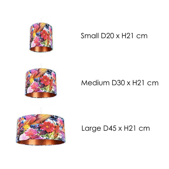 Blooming Flowers Lampshade Size Guide
