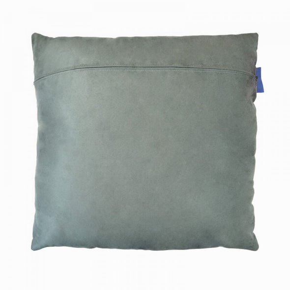 Blue Blooming Cushion Back