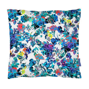 Blue Blooming Cushion