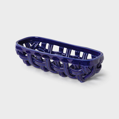 Blue Ceramic Basket