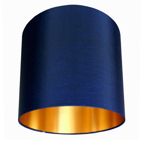 Midnight Lampshade with Gold Lining