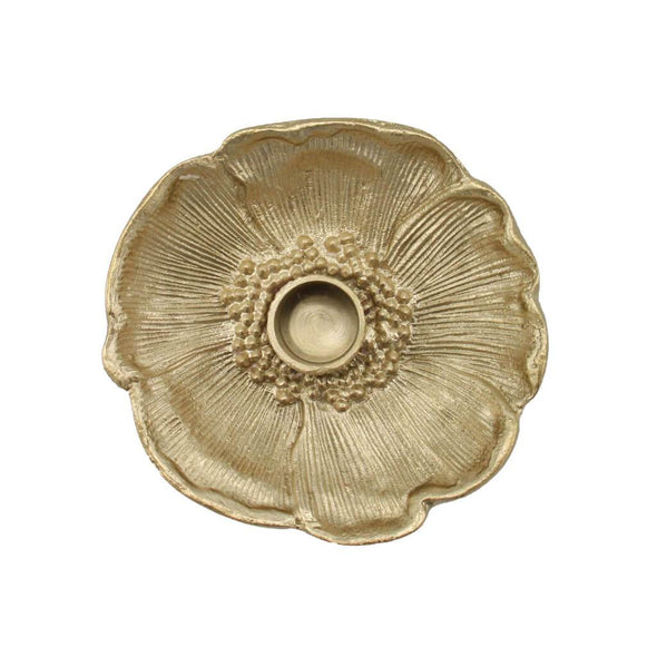 Brass Poppy Candle Holder