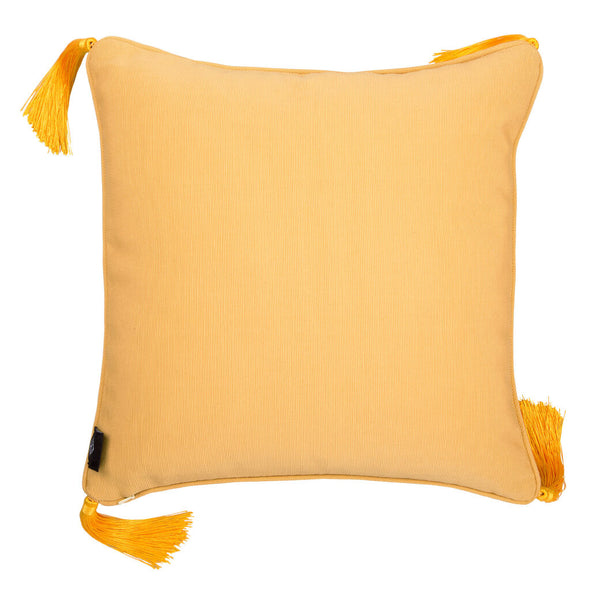 Camel Silk Cushion Back