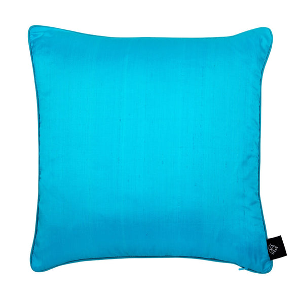 Capella Chigi Blue Silk Cushion Back