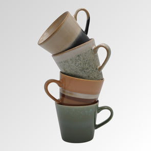 Cappuccino Ceramic Cups Set of 4